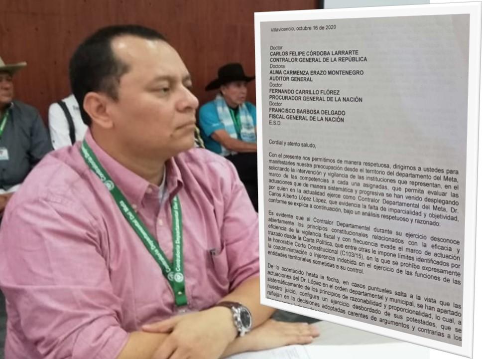 Gobernador y alcaldes se quejaron por extralimitación del Contralor del Meta