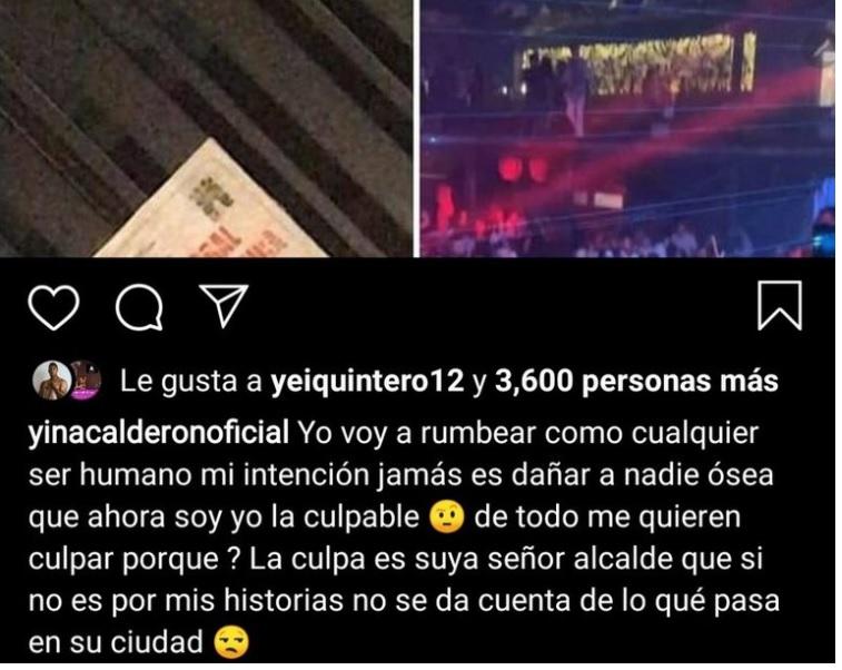 """""""Yo no tengo la culpa del cierre de Capachos"""": Yina Calderón"""